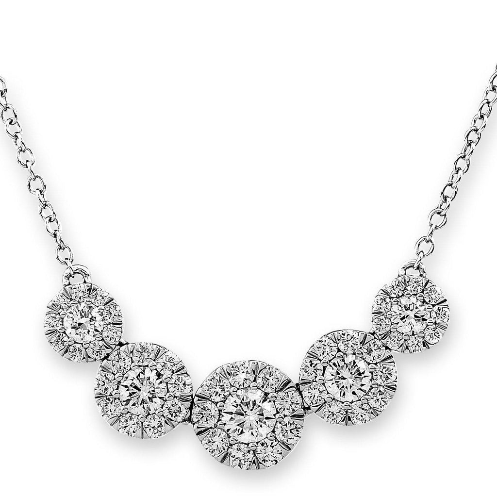Royal Windsor Necklace in 18k White Gold with Diamonds (1.068ct) Necklace IAD