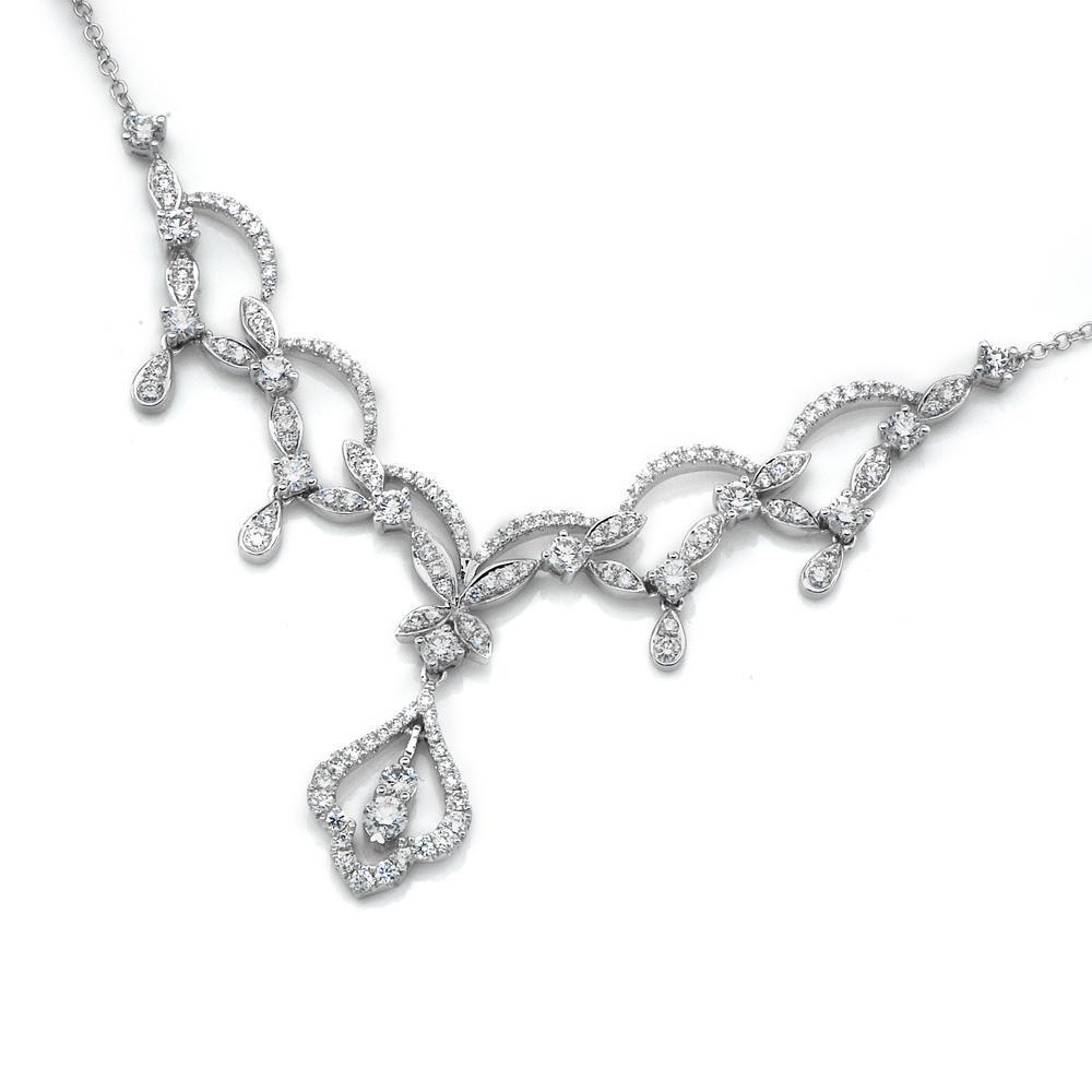 Royal Windsor Necklace in 18k White Gold with Diamonds (1.957ct) Necklace IAD