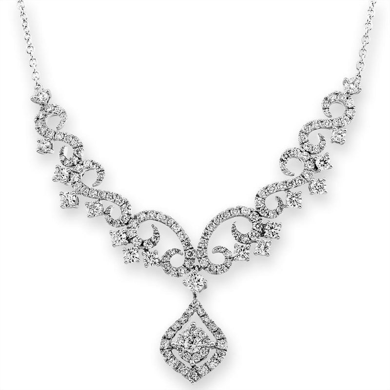 Royal Windsor Necklace in 18k White Gold with Diamonds (2.531ct) Necklace IAD