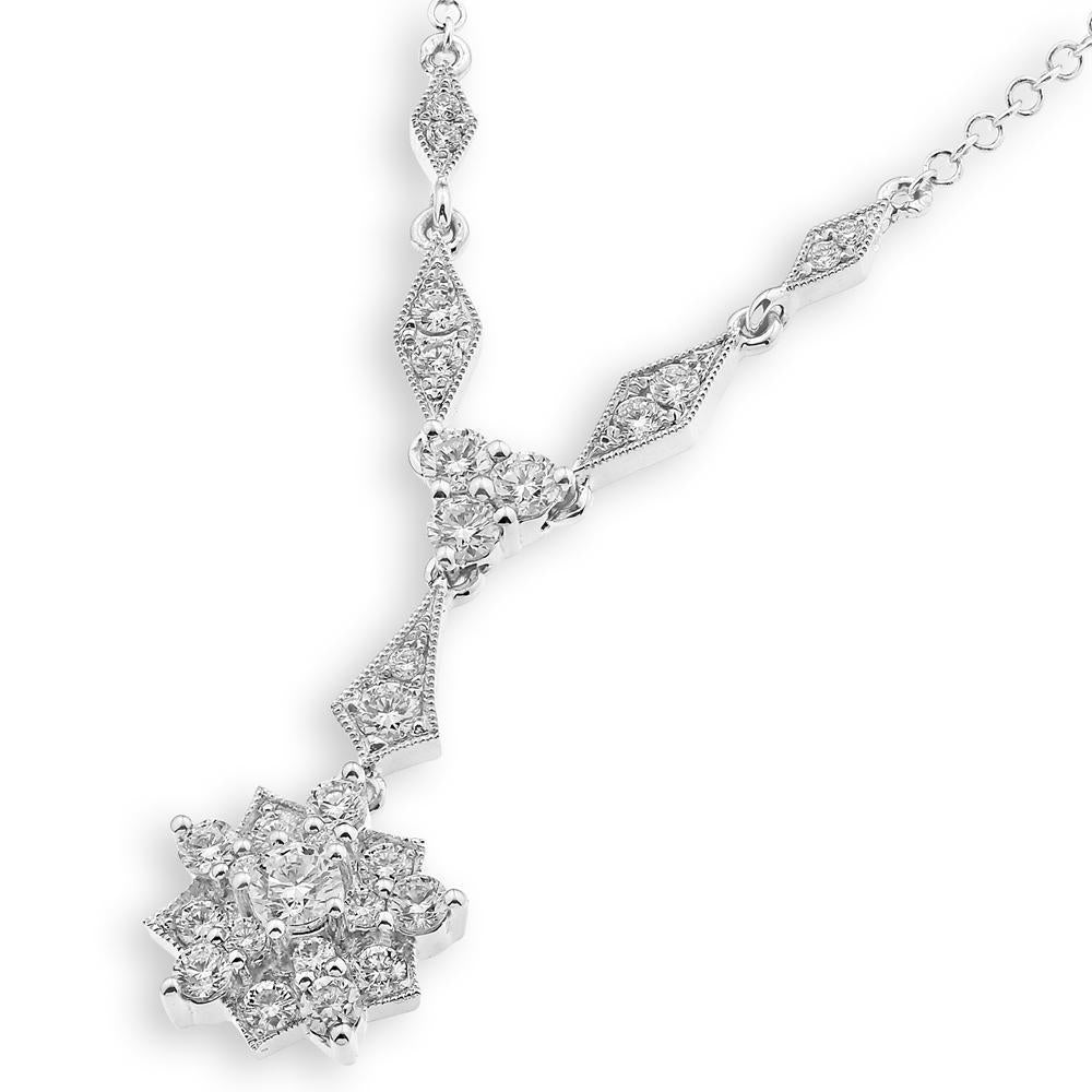 Royal Windsor Necklace in18k White Gold with Diamonds (0.663ct) Necklace Olivia Davenport Fine Jewels