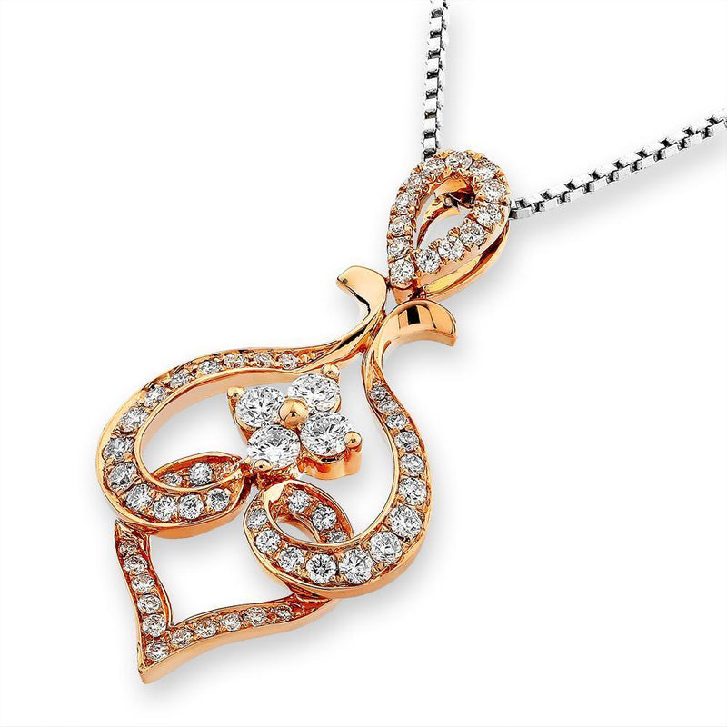 Royal Windsor Pendant in 18k Rose Gold with Diamonds (0.443ct) Pendant IAD