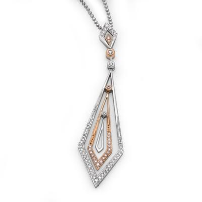 Royal Windsor Pendant in 18k Rose & White Gold with Diamonds (0.387ct) Pendant IAD
