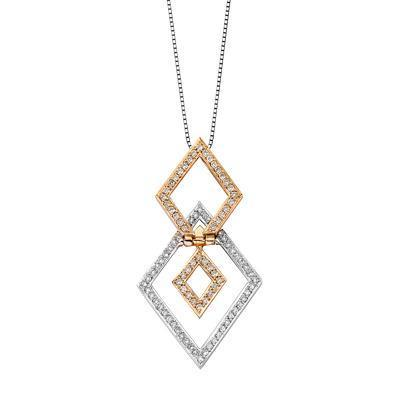 Royal Windsor Pendant in 18k Rose & White Gold with Diamonds (0.395ct) Pendant IAD