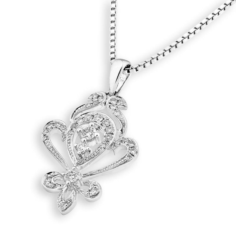 Royal Windsor Pendant in 18k White Gold with Diamonds (0.158ct) Pendant IAD
