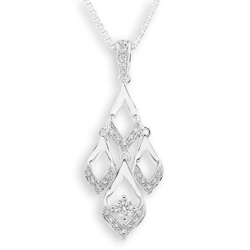Royal Windsor Pendant in 18k White Gold with Diamonds (0.161ct) Pendant IAD