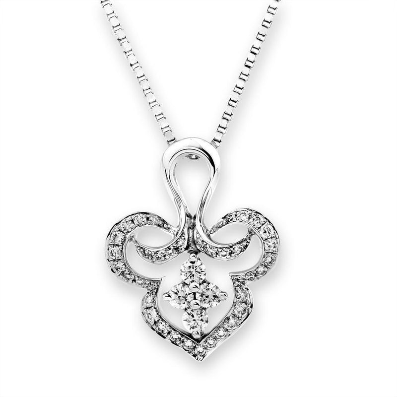Royal Windsor Pendant in 18k White Gold with Diamonds (0.255ct) Pendant IAD