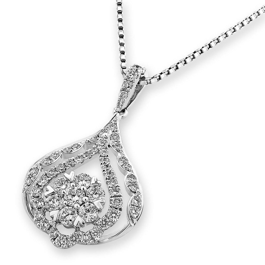 Royal Windsor Pendant in 18k White Gold with Diamonds (0.659ct) Pendant IAD