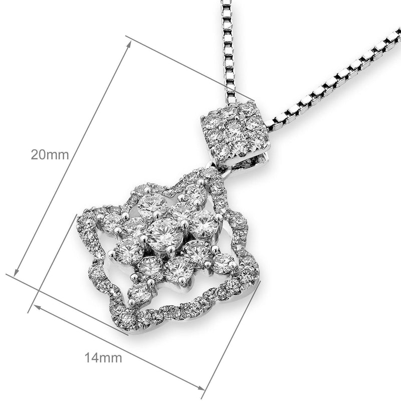 Royal Windsor Pendant in 18k White Gold with Diamonds (0.716ct) Pendant IAD