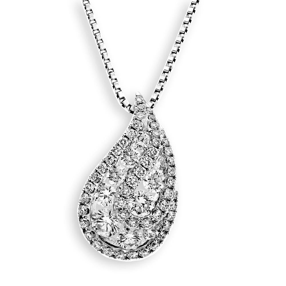 Royal Windsor Pendant in 18k White Gold with Diamonds (0.892ct) Pendant IAD