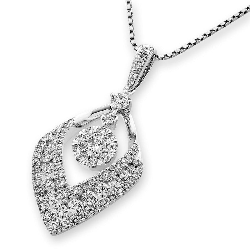 Royal Windsor Pendant in 18k White Gold with Diamonds (1.14ct) Pendant IAD