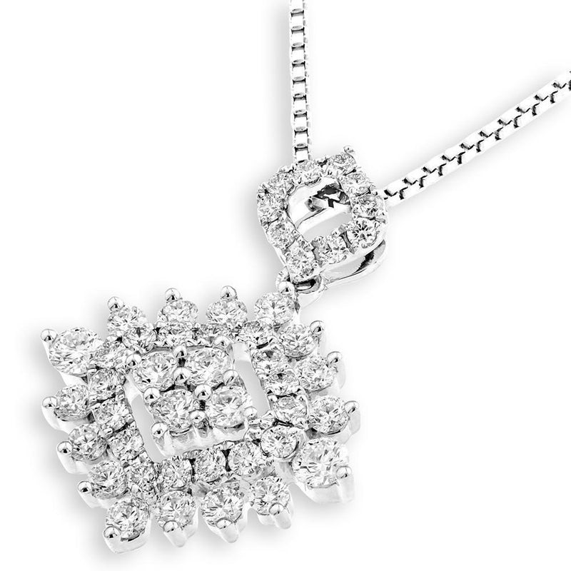 Royal Windsor Pendant in 18k White Gold with iamonds (0.79ct) Pendant IAD