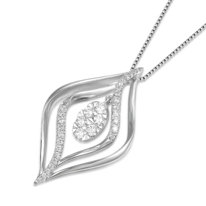 Royal Windsor Pendant in18k White Gold with Diamonds (0.344ct) Pendant IAD