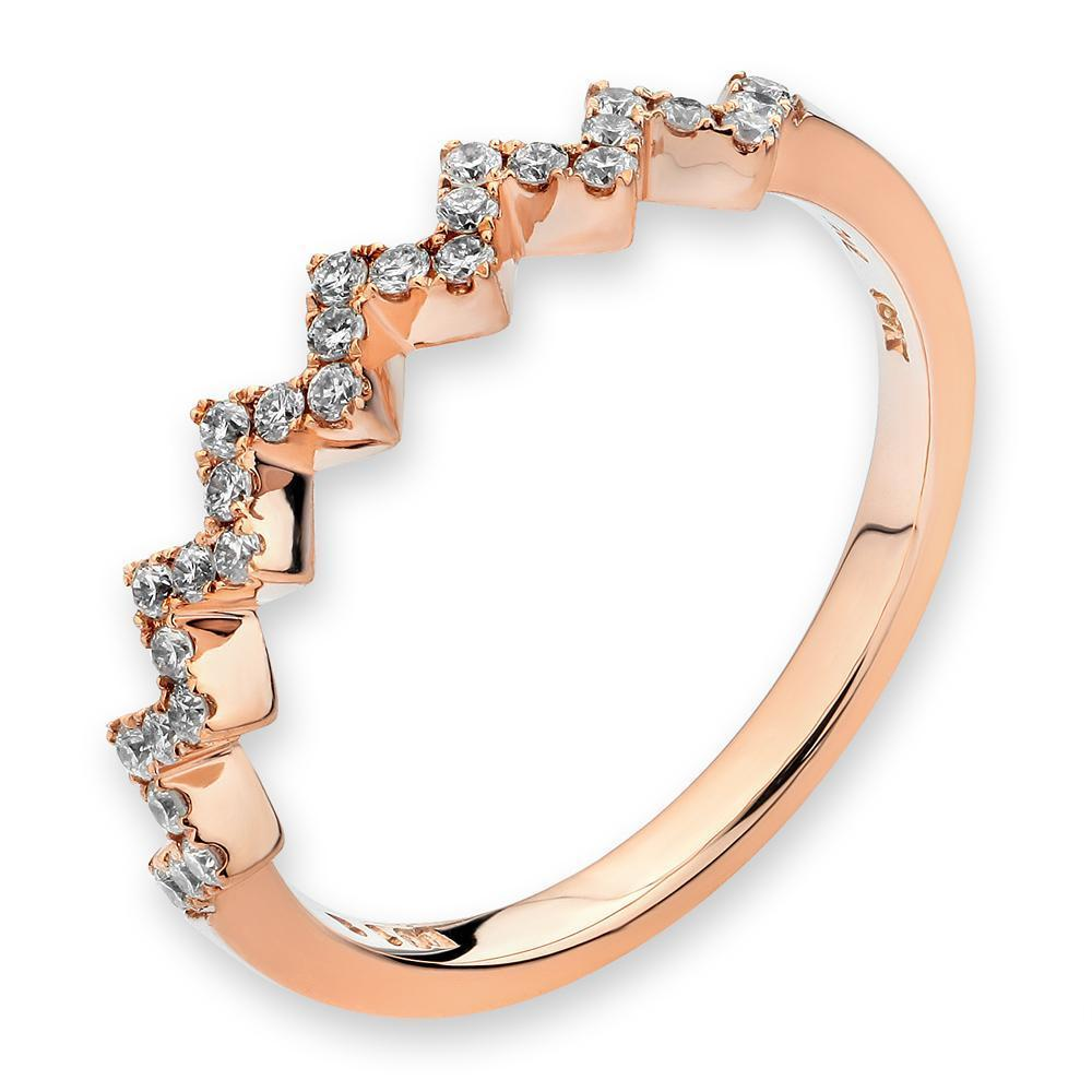 Royal Windsor Ring in 18k Rose Gold with Diamonds (0.183ct) Ring IAD