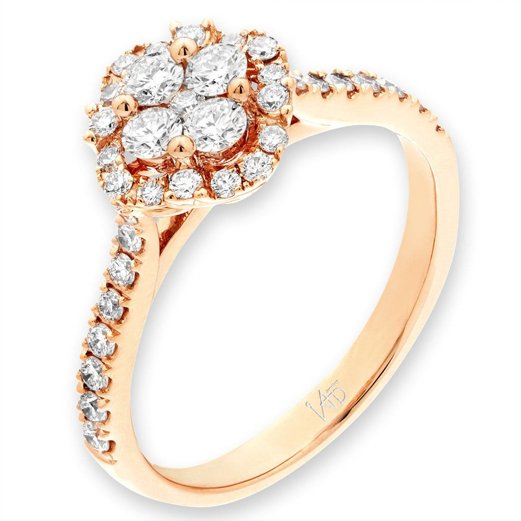 Royal Windsor Ring in 18k Rose Gold with Diamonds (0.587ct) Ring IAD