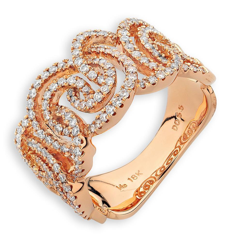 Royal Windsor Ring in 18k Rose Gold with Diamonds (0.661ct) Ring IAD