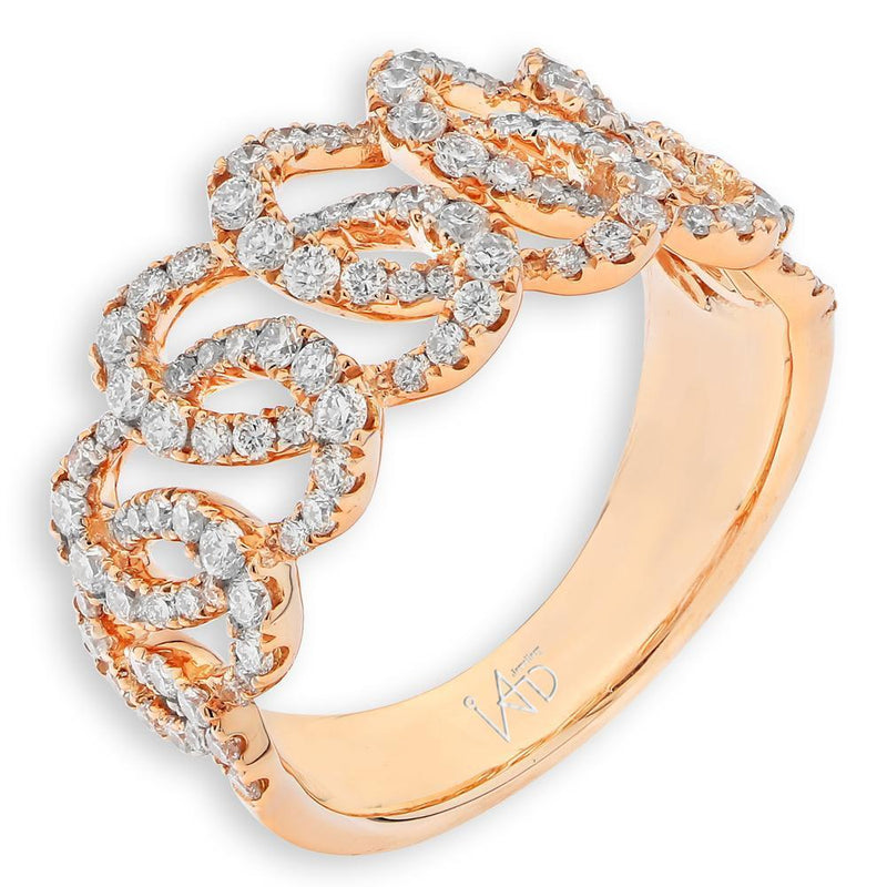 Royal Windsor Ring in 18k Rose Gold with Diamonds (0.842ct) Ring IAD