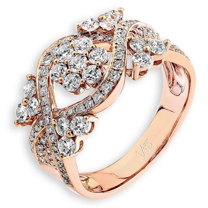 Royal Windsor Ring in 18k Rose Gold with Diamonds (1.041ct) Ring IAD