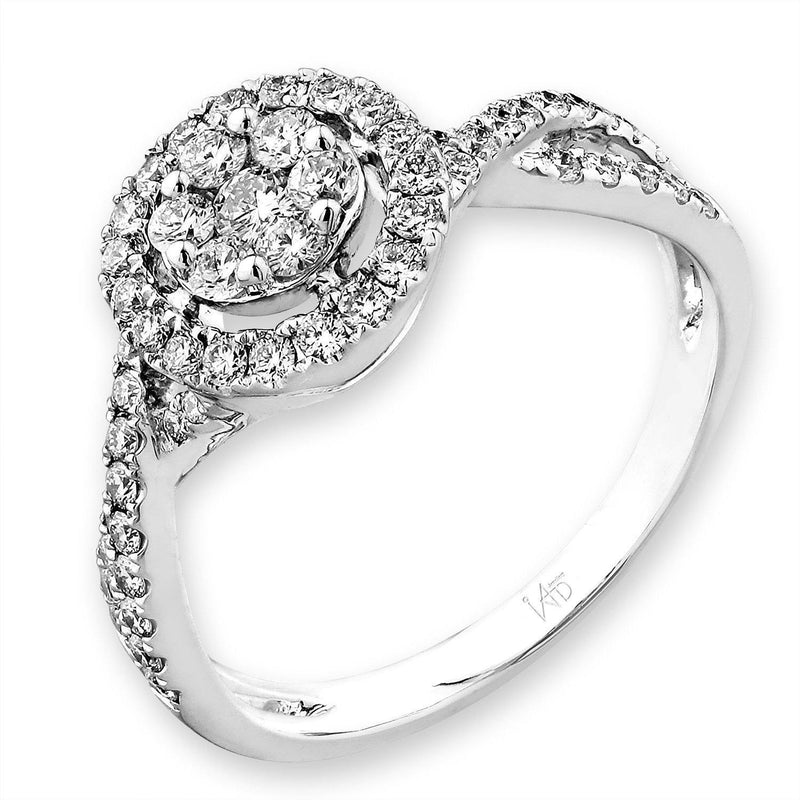 Royal Windsor Ring in 18k White Gold with Diamonds (0.572ct) Ring IAD