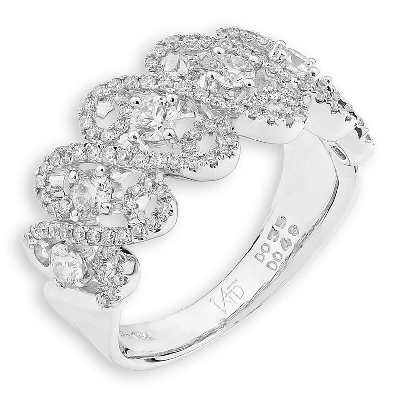Royal Windsor Ring in 18k White Gold with Diamonds (0.833ct) Ring IAD