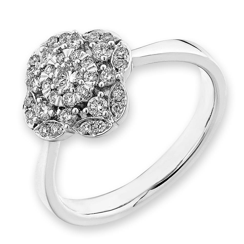 Royal Windsor Ring in18k White Gold with Diamonds (0.293ct) Ring IAD