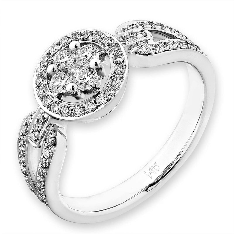 Royal Windsor Ring with in 18k White Gold Diamonds (0.452ct) Ring IAD