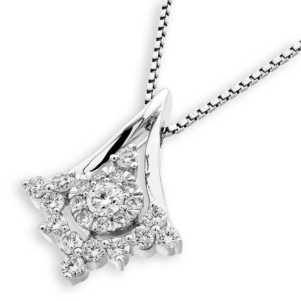 Royal Windsor Star Pendant in 18k White Gold with Diamonds (0.572ct) Pendant IAD