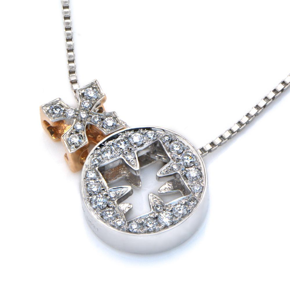 Royal Windsor Two-Piece Pendant in 18k White & Rose Gold with Diamonds (0.216ct) Pendant IAD