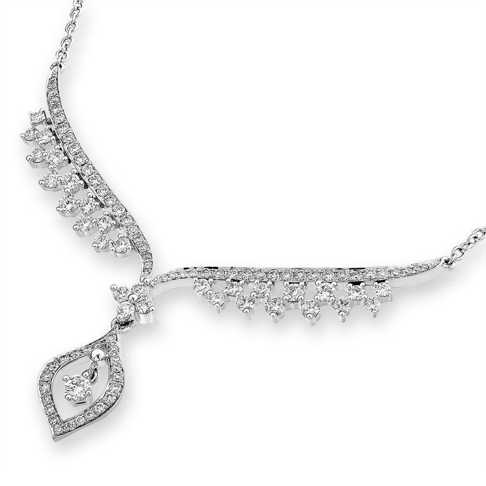 Royal Windsor Winged Necklace in 18k White Gold with Diamonds (1.465ct) Necklace IAD