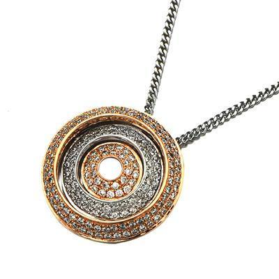 Solar Pendant in 18k White & Yellow Gold with Diamonds (0.591ct) Pendant IAD