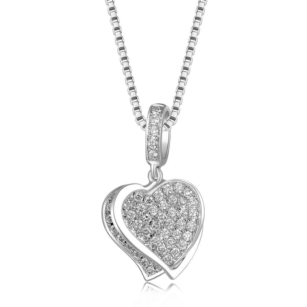 Spinning Heart Pendant in 18k White Gold with Diamonds (0.216ct) Pendant IAD