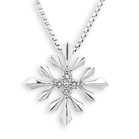 Star-Key Pendant in 18k White Gold with Diamonds (0.298ct)