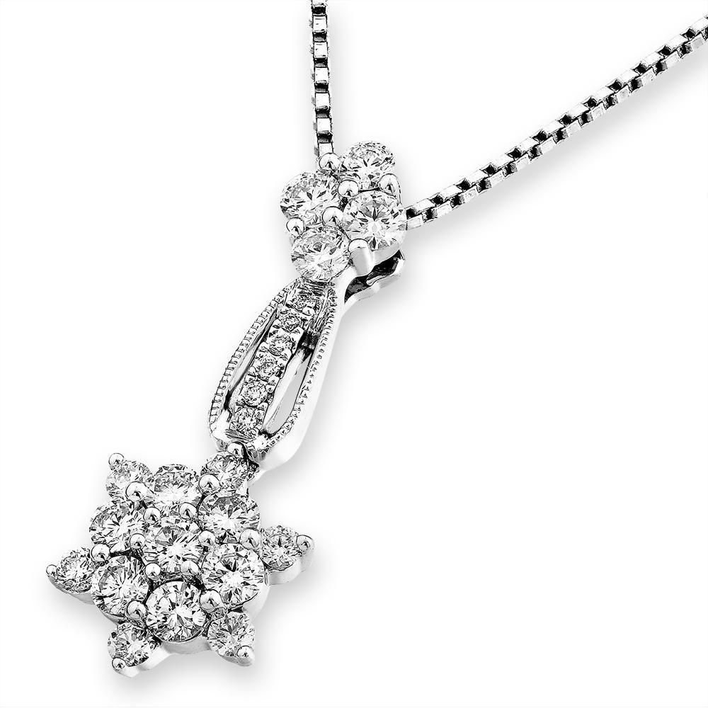 Star Pendant in 18k White Gold with Diamonds (0.687ct) Pendant IAD