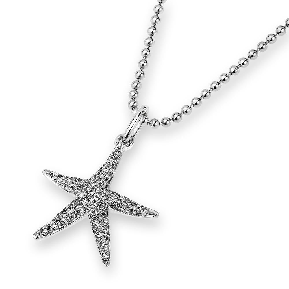 Starfish Pendant in 18k White Gold with Diamonds (0.176ct) Pendant IAD