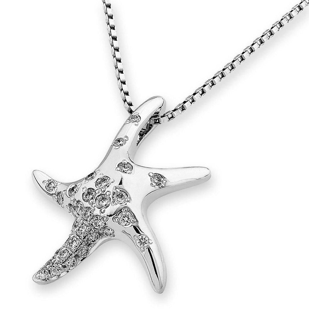 Starfish Pendant in 18k White Gold with Diamonds (0.246ct) Pendant IAD