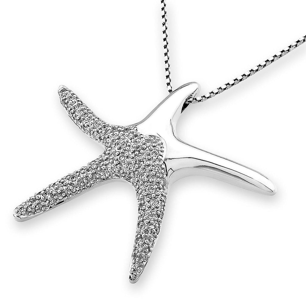 Starfish Pendant in 18k White Gold with Diamonds (0.566ct) Pendant IAD