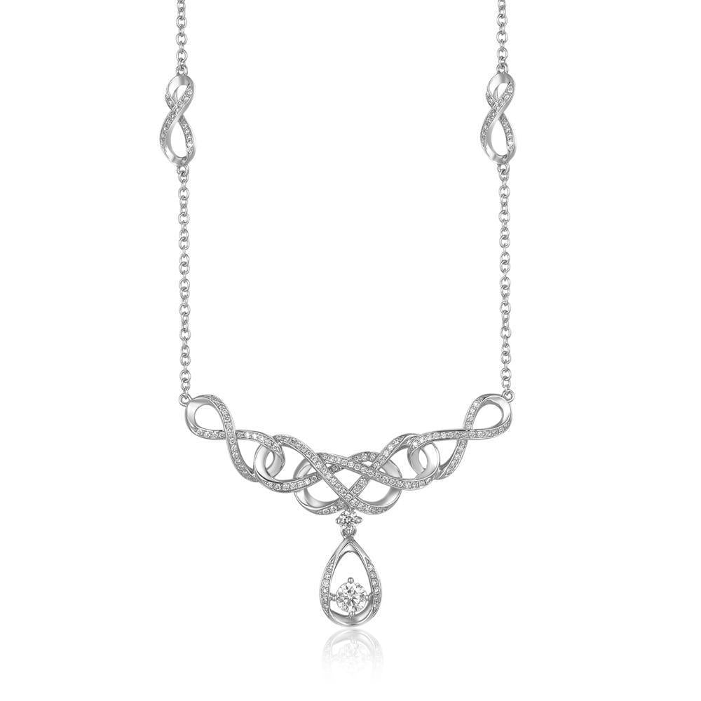 Teardrop Necklace in 18k White Gold with Diamonds (0.764ct) Necklace IAD