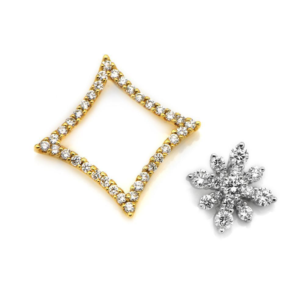 Two-Piece Star Pendant in 18k White & Yellow Gold with Diamonds (0.714ct) Pendant IAD