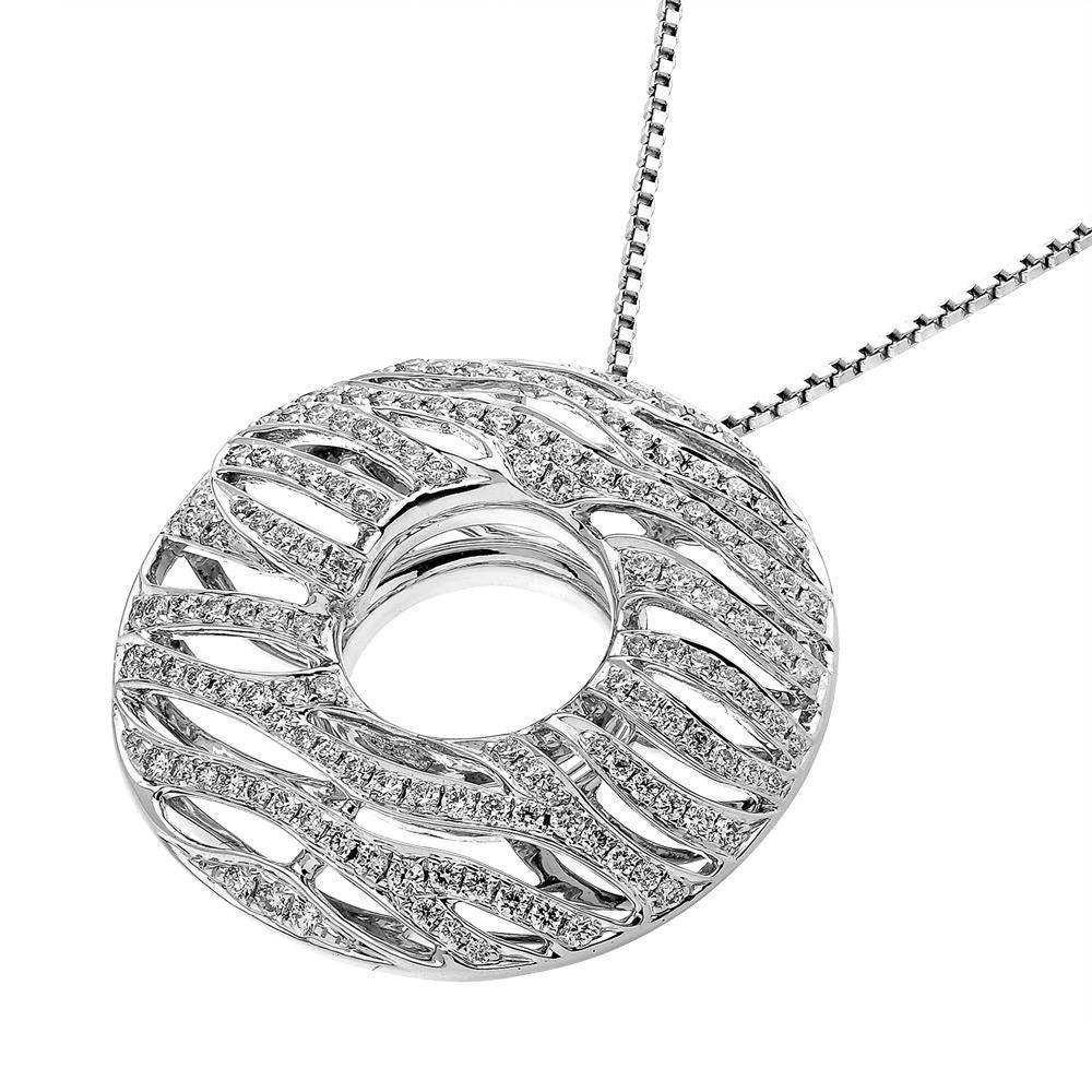Waves Pendant in 18k White Gold with Diamonds (0.723ct) Pendant IAD
