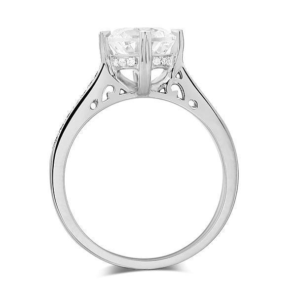 White Topaz (1.2ct) Ring in 14k White Gold with Diamonds (0.135ct) 14K Gold Engagement Rings Oanthan