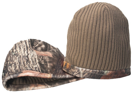 H2CAMOB16- H2 Camo Reversible Fleece Hunting Beanie