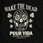 Pour Vida Branded Vintage White on Black Tee