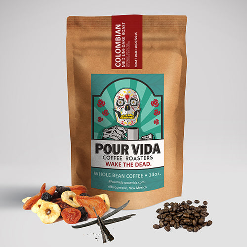 Pour Vida Colombian Medium-Dark Roast Coffee