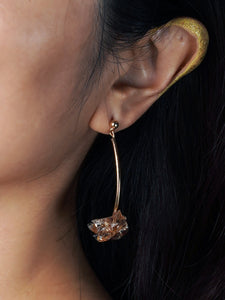 Feather Foil Rock Earrings