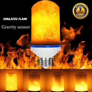 Omicoo Updated LED Flame Effect Light Bulb 4 Modes Flame