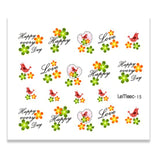 1 Sheet Fresh Flower Series Water Decal Colorful  Flower Lavender Nail Art Transfer Sticker for Nail Art Decoration  MartLion