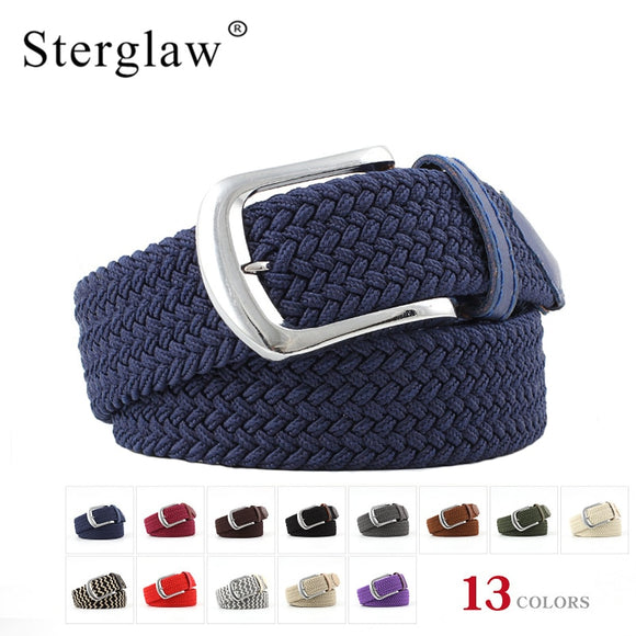 107cm korean fashion Casual stretch woven belt Women's unisex Canvas elastic belts for women jeans elastique Modeling belt N087 - Mart Lion  Best shopping website