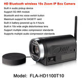 1080p 2megapixel 4 Hours battery powered wireless bluetooth camera 10x Auto Zoom TF Card backup Box IP  MartLion.com