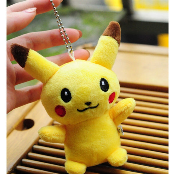 10CM Pikachu Plush Stuffed Toy Doll Kid's Party Keychain Gift Plush Toys Decor Pendant Toy  MartLion