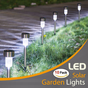 10PCS Solar Lights Outdoor- LED Solar Garden Pathway Light - Warm White/Multiple- Landscape Light For Lawn/Patio/Yard/Walkway  MartLion