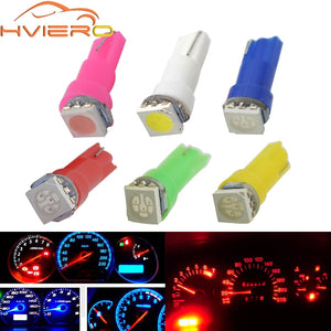 10X T5 5050 1SMD Wedge Led Dashboard White Red Blue Green Yellow Pink Car Auto Light Interior Interior Bulb Side Lamps DC 12V  MartLion